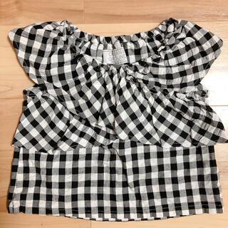 マーキーズ(MARKEY'S)の新品未使用 マーキーズ ギンガムチェック トップス 100cm(Tシャツ/カットソー)