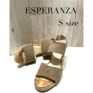 ESPERANZA - ESPERANZA エスペランサ ウエッジサンダル ダブルワイドベルト サンダル