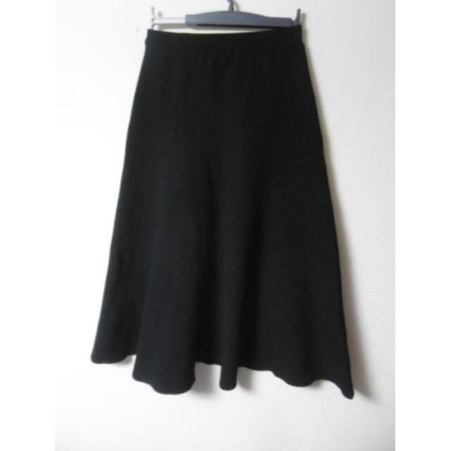Spick and Span Noble(スピックアンドスパンノーブル)のNOBLE ノーブル ミラノリブスカート  ニット フレアー レディースのスカート(ロングスカート)の商品写真