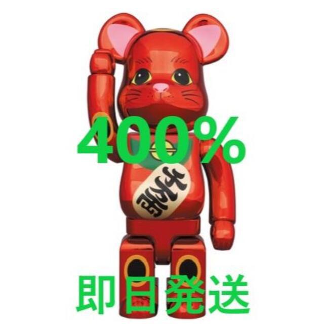MEDICOM TOY(メディコムトイ)のBE@RBRICK 招き猫 梅金メッキ 400% エンタメ/ホビーのフィギュア(その他)の商品写真