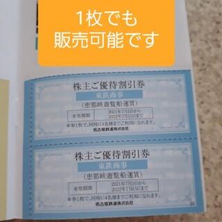 名古屋鉄道 名鉄 株主優待 恵那峡遊覧船 運賃 船 割引券 クーポン チケット(その他)