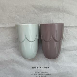 ミナペルホネン(mina perhonen)のミナペルホネン  pudding カップ 2個セット(グラス/カップ)