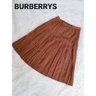 バーバリー(BURBERRY)の【希少】BURBERRYS バーバリーズ 小紋柄 レトロ 総柄 プリーツスカート(ロングスカート)