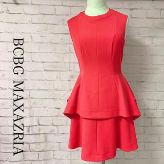 ビーシービージーマックスアズリア(BCBGMAXAZRIA)の値下げ❗️BCBG MAXAZRIA フレアワンピース ドレス サイズ0(ひざ丈ワンピース)