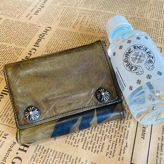 Chrome Hearts - 【定価¥16万3千円】クロムハーツ 3フォールドレザーウォレット 迷彩  財布