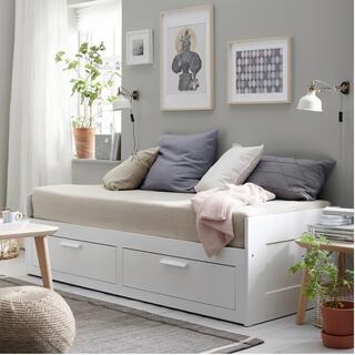 イケア(IKEA)の期間限定 IKEAベッドイケアベッドBRIMNESブリムネス(シングルベッド)