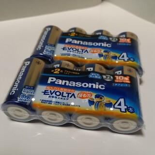 パナソニック(Panasonic)の【8本】単2形 アルカリ乾電池 単2電池 エボルタ 電池 単2 電池 単二(バッテリー/充電器)