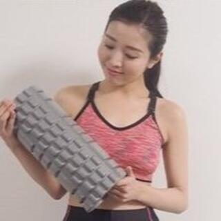 再入荷! 人気商品‼ フォームローラー 筋膜リリース 背中 ストレッチ グレー(ヨガ)