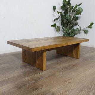 新品 男前 マンゴーウッド センターテーブル  幅120cm (ローテーブル)