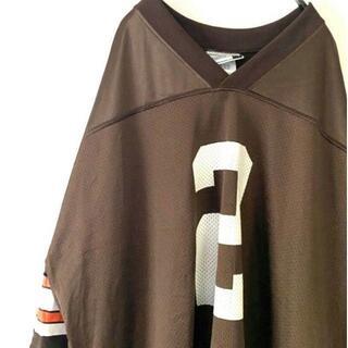 PUMA - プーマ NFL クリーブランドブラウンズ カウチゲームシャツ茶ブラウン2XL古着