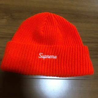 シュプリーム(Supreme)のsupreme オレンジ ビーニー(ニット帽/ビーニー)