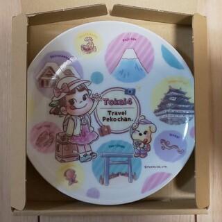 フジヤ(不二家)の不二家 ペコちゃん オリジナルデザイン皿  東海4県新品(ノベルティグッズ)