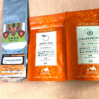 ルピシア(LUPICIA)のルピシア紅茶 4点セット カシスブルーベリー 白桃煎茶  (茶)