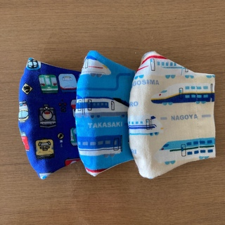 子供用立体インナーマスク-224 新幹線(外出用品)