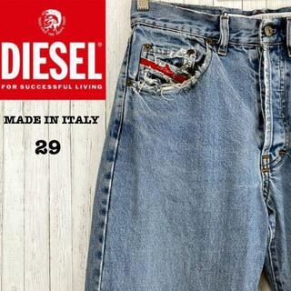 ディーゼル(DIESEL)のディーゼル イタリア製 デニム ジーンズ ジーパン ダメージ ボタンフライ 29(デニム/ジーンズ)