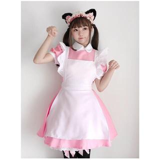 ピンクワタアメメイド&ちょっぴり小悪猫ちゃんメイド(衣装一式)