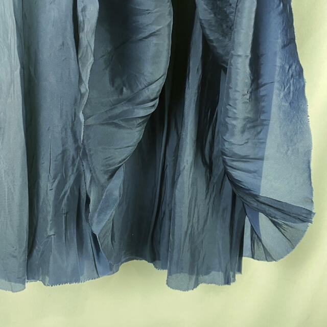 sacai luck(サカイラック)のsacai luck ドッキングワンピース M 青黒ボーダー 日本製 膝下丈 レディースのワンピース(ひざ丈ワンピース)の商品写真