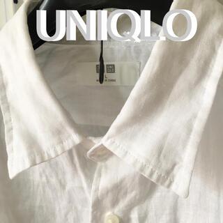 UNIQLO - UNIQLOユニクロ  プレミアムリネンシャツ   L