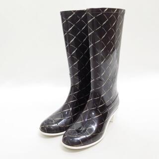 シャネル(CHANEL)のCHANEL シャネル マトラッセ レイン ブーツ 35(レインブーツ/長靴)
