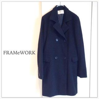 フレームワーク(FRAMeWORK)のFRAMeWORK チェスターコート 黒 フレームワーク ウールコート(チェスターコート)