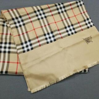 バーバリー(BURBERRY)のバーバリーズ スカーフ美品  チェック柄(バンダナ/スカーフ)