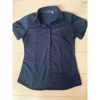 スーツカンパニー(THE SUIT COMPANY)のスーツセレクト 紺色 半袖シャツ(シャツ/ブラウス(半袖/袖なし))