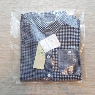 サンカンシオン(3can4on)の新品 130cm 3can4on ギンガムチェック シャツ サンカンシオン(Tシャツ/カットソー)