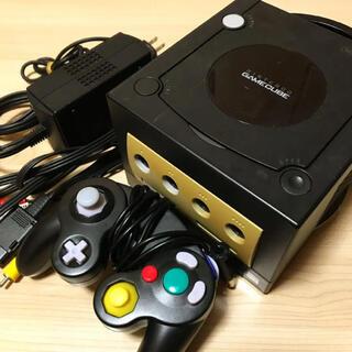 ニンテンドーゲームキューブ(ニンテンドーゲームキューブ)の送料無料⭐️任天堂ゲームキューブ本体一式セット〈ブラック〉(家庭用ゲーム機本体)