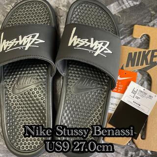 STUSSY - NIKE Stussy  ベナッシ サンダル 黒 27.0cm 新品未使用