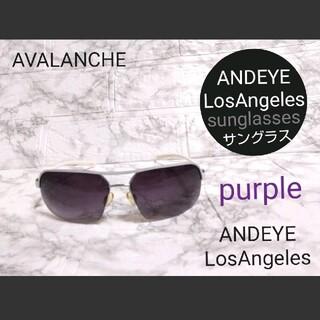 アヴァランチ(AVALANCHE)のANDEYE LosAngeles sunglasses【purple】アンダイ(サングラス/メガネ)