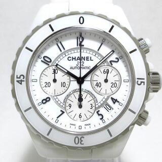 シャネル(CHANEL)のシャネル 腕時計美品  J12 H1007 メンズ 白(その他)