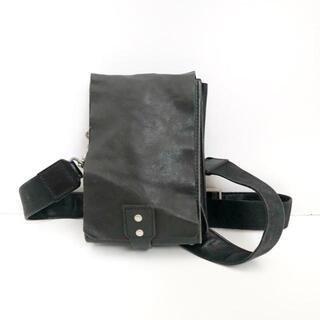 ヨウジヤマモト(Yohji Yamamoto)のヨウジヤマモト ショルダーバッグ - 黒(ショルダーバッグ)