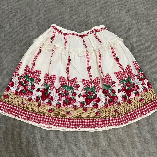 Shirley Temple(シャーリーテンプル)のシャーリーテンプル♡いちごバスケットスカート キッズ/ベビー/マタニティのキッズ服女の子用(90cm~)(スカート)の商品写真