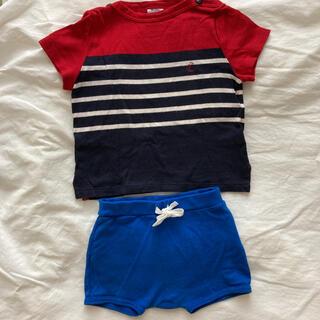 プチバトー(PETIT BATEAU)のプチバトー 81 ショートパンツ& マリンT shirts(シャツ/カットソー)