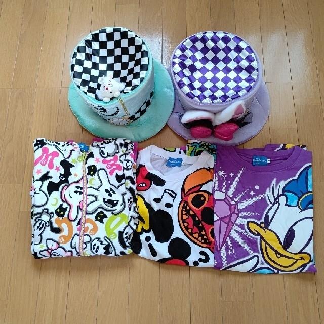 Disney(ディズニー)のディズニー仮装グッズ&Tシャツ&パーカー&シュシュセット エンタメ/ホビーのコスプレ(小道具)の商品写真