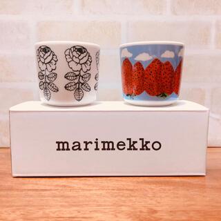 マリメッコ(marimekko)の新品 マリメッコ  マンシッカヴォレット ヴィヒキルース ダークグリーン セット(グラス/カップ)