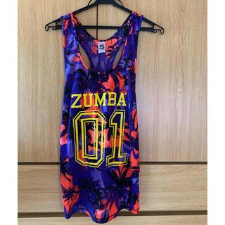 Zumba - ZUMBA タンクトップ ブルー×オレンジ Sサイズ