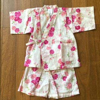 西松屋 - 新品 ♡ 女の子 花柄甚平 100