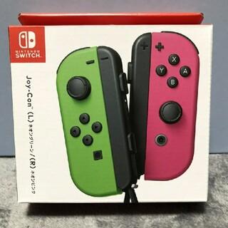ニンテンドースイッチ(Nintendo Switch)の任天堂 switch ジョイコン ネオングリーン、ピンク 新品未開封品(その他)