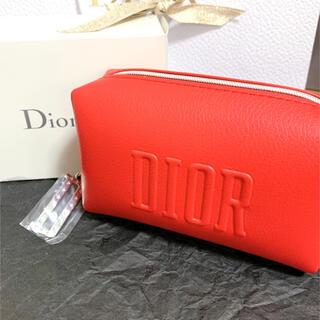 Dior - ディオール ノベルティ ポーチ レッド Dチャーム