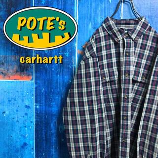 carhartt - 【カーハート】ロゴタグ入りフラップ付きダブルポケットワークチェックシャツ