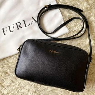 Furla - フルラ リリー ショルダーバッグ ダブルファスナー サフィアーノレザー ブラック