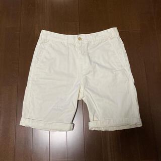GU - GU ハーフパンツ オフホワイト S 膝上 無地 白 ホワイト ショートパンツ