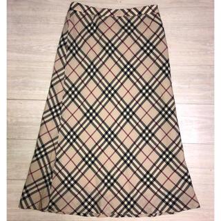 バーバリー(BURBERRY)のBURBERRY LONDON バーバリーロンドン ノバチェック スカート(ロングスカート)