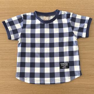 petit main - プティマイン  チェック柄Tシャツ 90サイズ