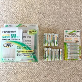 パナソニック(Panasonic)の【Panasonic 】急速充電器セット、充電式エボルタ(バッテリー/充電器)