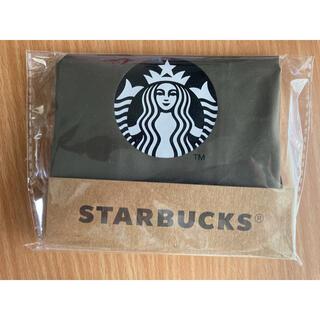Starbucks Coffee - スターバックス エコバッグ モスグリーン系ロゴ