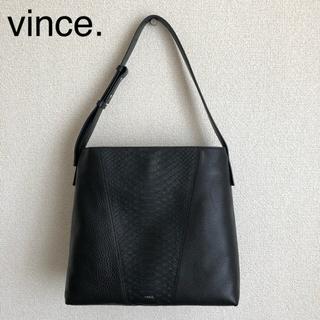 ビンス(Vince)のvince. レザーショルダーバッグ (ブラック)(ショルダーバッグ)