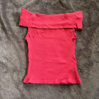 レディアゼル(REDYAZEL)のレディアゼル オフショル トップス 赤(カットソー(半袖/袖なし))