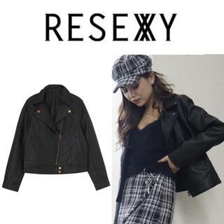 RESEXXY - RESEXY リゼクシー フェイクレザー ライダース アウター コート